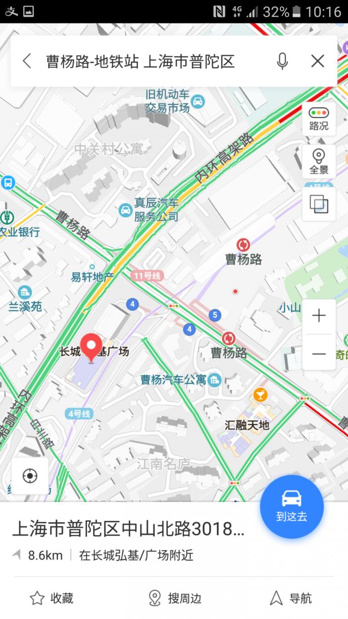曹阳舞庁の地図