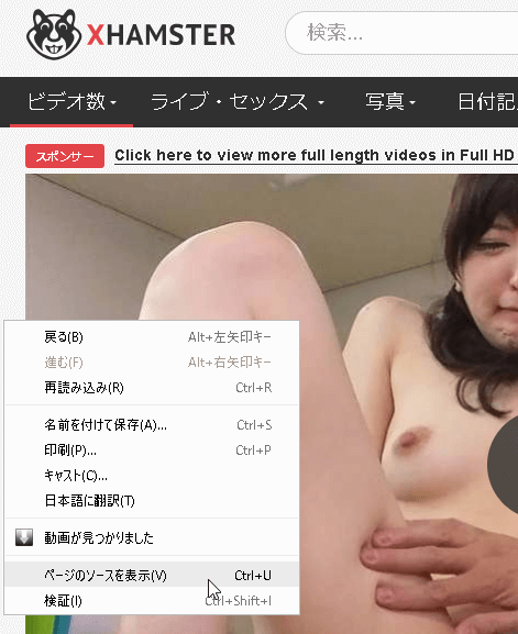 中国でエロ動画を見る方法(低速回線対応) 参考画像