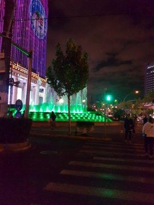 上海グローバルハーバーの豪華な噴水