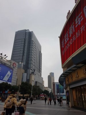蘇州石路駅近くの景観