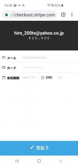 上海DEデリヘルお支払いページ 参考画像