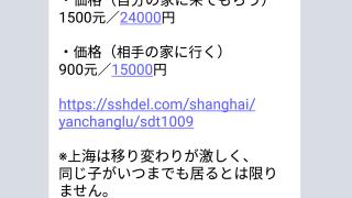 上海DEデリヘル公式LINEアカウントを削除します 参考画像